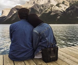 couple, girl, and nature image