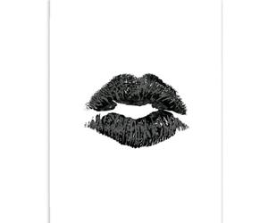 black, kiss, and kissing image
