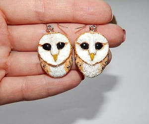 etsy, owl jewelry, and Valentine's Day image