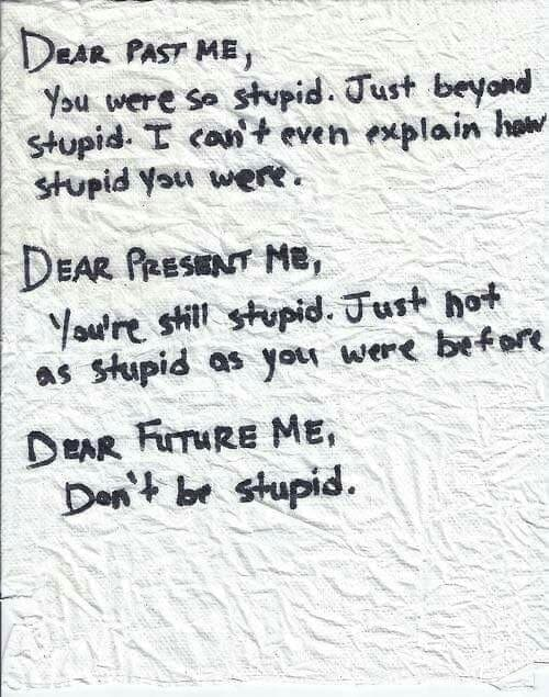 stupid, future, and past image