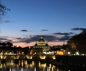 light, rome, and sky image