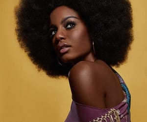 Afro, black woman, and brownskin image