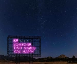 quotes, neon, and happy image