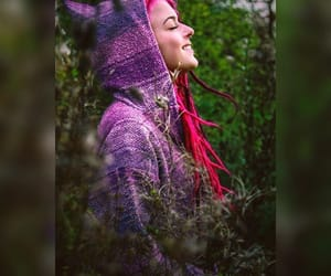 dreadlocks, hippie, and pink hair image