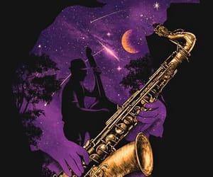 art, sax, and silueta image