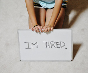 tired, girl, and photography image