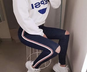 outfit, style, and Pepsi image