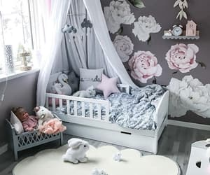 baby, blue, and decor image