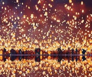 light, night, and lanterns image