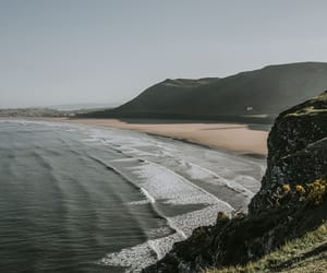 beach, calm, and grey image