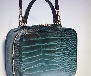bag, green, and leather image