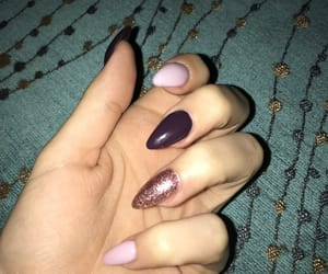 nail, nails, and almond nail image