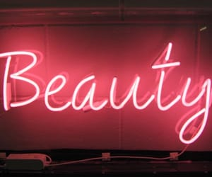 neon lights and beauty image