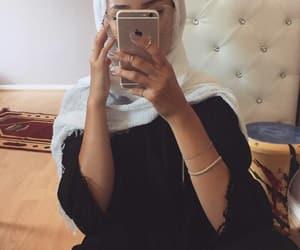 hijab, fashion, and iphone image