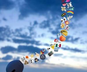 music, sky, and emoji image