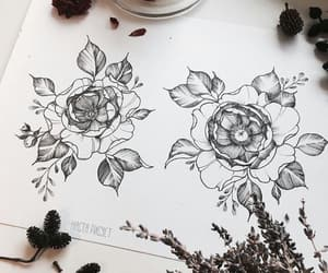 flower, romantic, and rose image