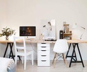 desk, interior, and decor image