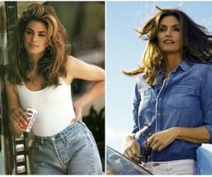 ad, cindy crawford, and commercial image