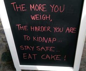 cake, funny, and food image
