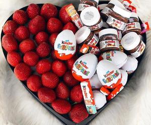 strawberry, chocolate, and kinder image
