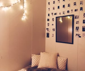 bedroom, polaroids, and teen image