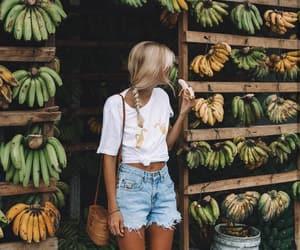 girl, banana, and summer image