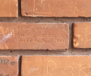 love, quotes, and brick image