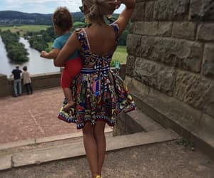 baby, colorful, and dress image