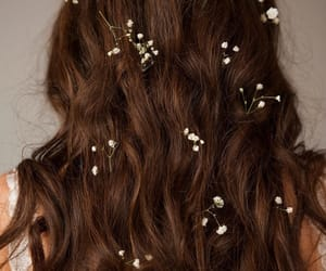 aesthetic, flower, and hair image