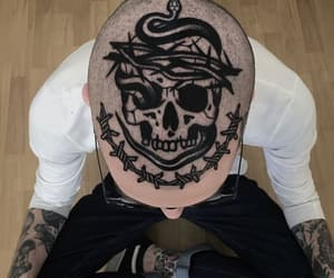 aesthetic, grunge, and skull image