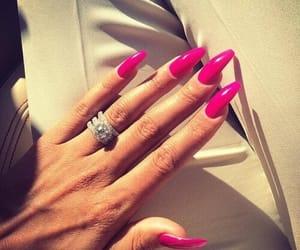 nails, pink, and ring image