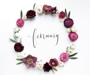 flowers, monogram, and wreath image