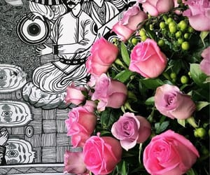 arabic, words, and flowers image