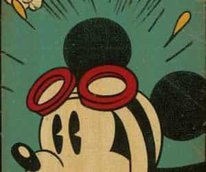 mickey, disney, and vintage image