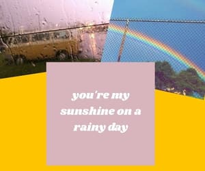 aesthetic, rainy day, and yellow image