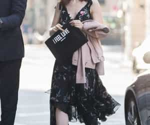 fashion, outfit, and lily collins image