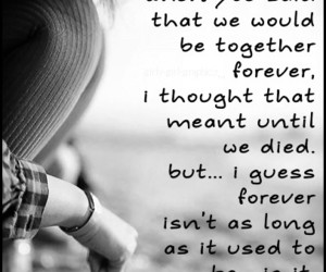 quote, love, and forever image