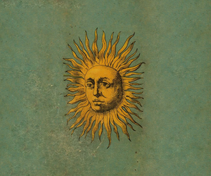sun, art, and vintage image