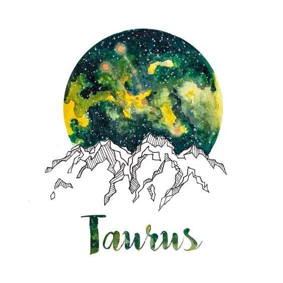 zodiac, taurus, and mountains image