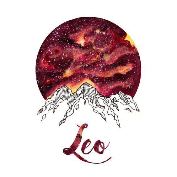 Leo and zodiac image