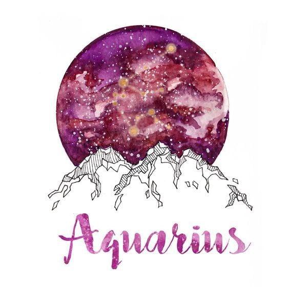 aquarius, zodiac, and drawing image