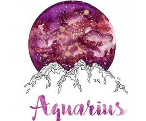 zodiac, aquarius, and drawing image