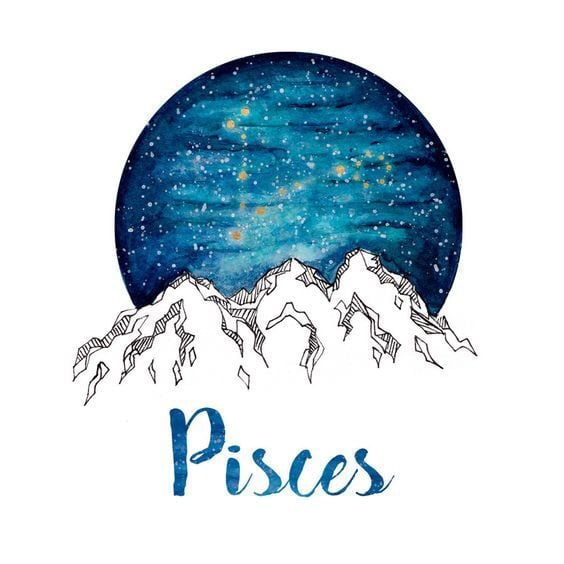 pisces, zodiac, and stars image