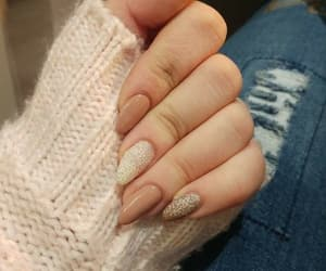beige, brocade, and nails image