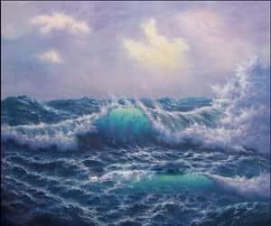 waves, art, and sea image