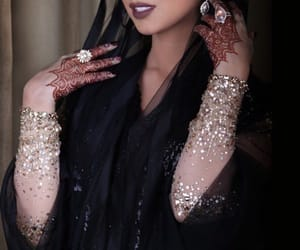 fashion, henna, and muslim image