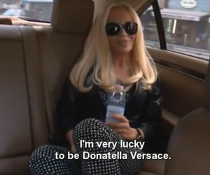 Donatella Versace, fashion, and icon image