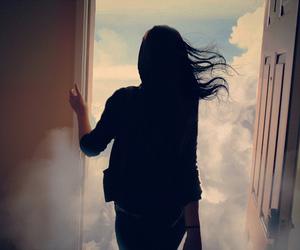 sky, clouds, and door image