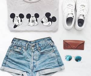 mickey, outfit, and short image