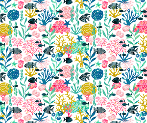 background, fish, and pattern image
